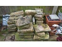 Stone for garden wall, patio or rockery