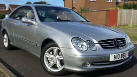 MERCEDES CLK 270 CDI AVANTGARDE,LOW MILEAGE 44689MILES ONLY(WARRANTED)PRIVATE PLATE AND HIGH SPEC