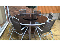 Garden patio glass table and chairs for sale