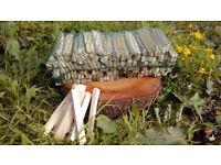 KINDLING - dry seasoned kindling, fire starter wood. 140-150 pieces in each net.