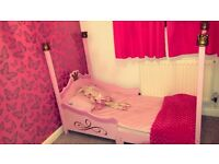 Girls Princess Four Poster Bed and Dressing Table