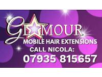 Mobile human Hair extension service