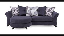 4 seater pillow back sofa and matching swivel chair