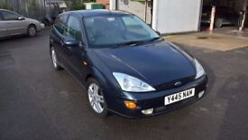 Ford Focus Zetec 2.0l Petrol, 3dr, 2001, 90,000 miles, E/W, A/C, leather MOT May'18, FSH, 2 owners