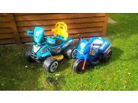 electric sit on toys x 2 (quad & trike)