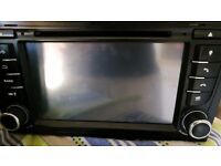Used double din sat nav cd stereo used in a Audi
