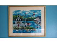 Habour Picture in a gold frame