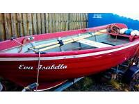 16feet creel boat on trailer with good engine