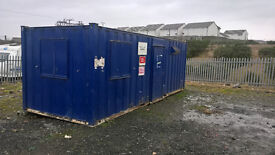 PORTABLE CABIN-24FT STEEL TOILET/DRYING ROOM-SHIPPING CONTAINER