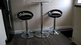Glass kitchen table and two chairs