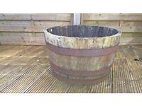 Half Solid Wooden Whisky Barrels x 5