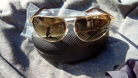 GUESS AVIATOR SUNGLASSES METAL FRAME BROWN LENSES Brown tortoiseshell version