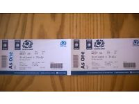Pair of tickets to Scotland v Italy rugby international at Murrayfield. 18 March 2017.