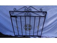 Single Heavy Wrought Iron Gate + Posts / Fittings