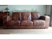 Leather Sofa 3 seater DFS