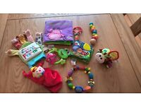 Bundle of newborn, baby and children's toys – excellent condition £6 for the bundle