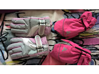 Girls Ski clothes and gloves