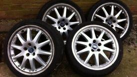 "Ford Mondeo MK3 18"" split rim, multi spoke alloy wheels - set of 4 - JUST REDUCED"