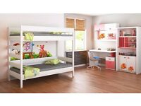 Bunk Bed For Kids Children Juniors with Ladder on the Side (Short Edge)