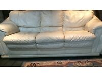 Real leather sofa 3&2