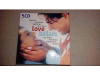 5 CD Love Ballads