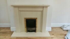 cream marble fire place for sale