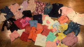 Large bundle of branded girls clothes age 1-2 (JoJo Maman Bebe, Babygap, John Lewis, Next)