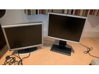 """Two HP Monitors 20"""" LCD LP2065 and 2035"""