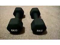 Mira fit 5kg dumbbell set