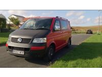 VOLKSWAGEN Transporter T5 Camper 2007 only 98,000 miles, MOT done March 2016