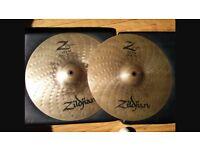Selection of Zildjian cymbals for sale. Great condition.
