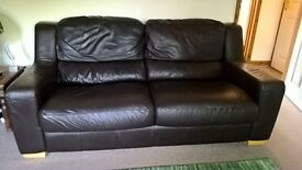 Timeless leather sofa 3 seater excellent condition