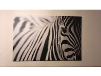 Large Zebra Canvas