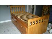 Pine Cabin bed with guest bed
