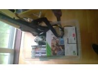 Xbox 360 with Guitar Hero (inc. Guitar) and 9 other games