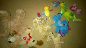 bindle of soft toys