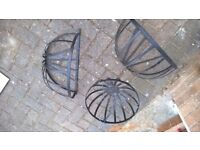 One hanging and two steel wall baskets. New. Good condition.