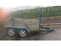 8x4 Galvanised Trailer with Extendable Sideboards and Tailboard