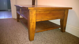 Coffee Table - large rustic 'Irish coast' solid oak and pine