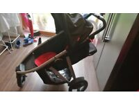 Phil & Ted Double pushchair with rain covers and extra seat fab condition