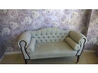 vintage bedroom sofa on casters
