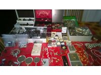 A LARGE COLLECTION OF COSTUME JEWELLERY.... NEW AND OLD EXCELLENT CONDITION....