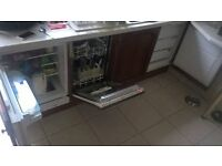 integrated fridge/freezer and dishwasher