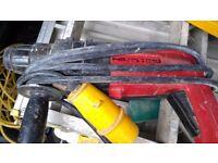 240v and 110v hammer drills