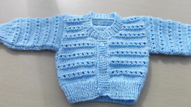 Baby's Blue Cardigan 3-6 months.