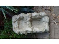 Garden Pond Preformed Double Waterfall Sand Colour 35in/89cm x 20in/51cm x 9in/23cm Depth