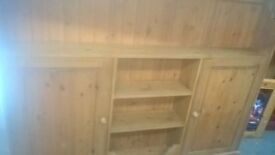Pine rustic sideboard / slimline hall / kitchen storage 6ft long delivery avalible