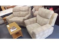 2 Seater + 1 Seater Recliner *NEW*
