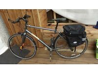 "Hybrid town touring commuter Pinnacle Neon Two bike Raleigh Panniers 20"" bicycle"