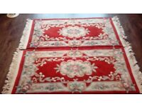 A pair of chinese aubusson rugs